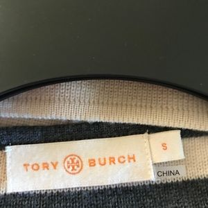 Tory Burch Sweaters - Tory Burch  Gray and White Sweater Size S